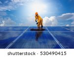 professional cleaning  solar... | Shutterstock . vector #530490415