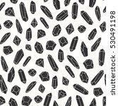 black crystal seamless pattern... | Shutterstock .eps vector #530491198