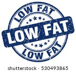 low fat. stamp. blue round... | Shutterstock .eps vector #530493865