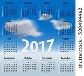 english calendar for 2017 year... | Shutterstock . vector #530494462