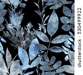 art vintage watercolor floral...   Shutterstock . vector #530499922
