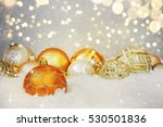 christmas background with... | Shutterstock . vector #530501836