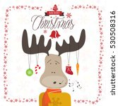 merry christmas greeting card.... | Shutterstock .eps vector #530508316