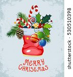 christmas and new year greeting ... | Shutterstock .eps vector #530510398