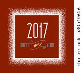 new year frame with snow effect.... | Shutterstock .eps vector #530510656