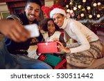 happy family taking self... | Shutterstock . vector #530511442