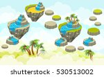 Landscape With Islands. Vector...
