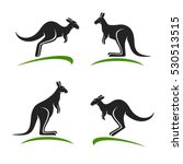 kangaroo set. vector | Shutterstock .eps vector #530513515
