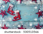 retro ice skates decoration for ... | Shutterstock . vector #530513566