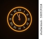 gold christmas magic clock... | Shutterstock . vector #530519218