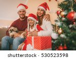 beautiful happy family with... | Shutterstock . vector #530523598