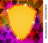 abstract shining retro light... | Shutterstock .eps vector #530525842