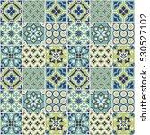 decorative tile pattern design. ... | Shutterstock .eps vector #530527102