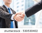 businessmen making handshake  ... | Shutterstock . vector #530530402