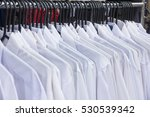 selective focus row of cloth... | Shutterstock . vector #530539342