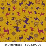 happy new year seamless pattern.... | Shutterstock .eps vector #530539708