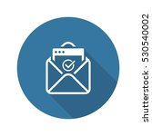 confirmation letter icon.... | Shutterstock .eps vector #530540002