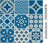 decorative tile pattern design. ... | Shutterstock .eps vector #530540878