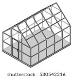a large domestic greenhouse  ... | Shutterstock .eps vector #530542216