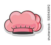 pink silhouette with chefs hat | Shutterstock .eps vector #530543092
