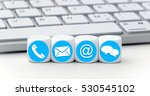 website and internet contact us ... | Shutterstock . vector #530545102