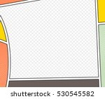 vector mock up of a typical... | Shutterstock .eps vector #530545582
