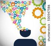 social network silhouette... | Shutterstock .eps vector #530547586