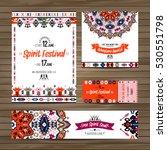 set of geometric boho colorful...   Shutterstock .eps vector #530551798
