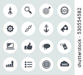 internet marketing icons   seo  ... | Shutterstock .eps vector #530554582