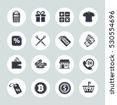 shopping icons | Shutterstock .eps vector #530554696