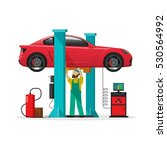 car repair shop station vector... | Shutterstock .eps vector #530564992