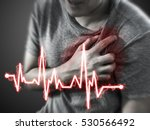 severe heartache  man suffering ... | Shutterstock . vector #530566492