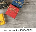 present box on wood background | Shutterstock . vector #530566876