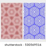set of abstract floral seamless ... | Shutterstock .eps vector #530569516