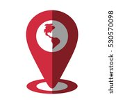 pointer globe map location... | Shutterstock .eps vector #530570098