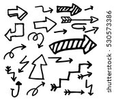 hand drawn arrows doodle set... | Shutterstock .eps vector #530573386
