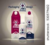 packaging design milk. vector...   Shutterstock .eps vector #530579602