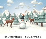 cartoon style low poly 3d... | Shutterstock . vector #530579656