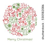 merry christmas. hand drawn... | Shutterstock .eps vector #530582086
