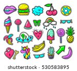 girls fun applique patches ... | Shutterstock .eps vector #530583895