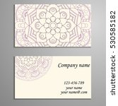 business card. vintage... | Shutterstock .eps vector #530585182
