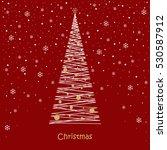 christmas card. christmas balls ... | Shutterstock .eps vector #530587912