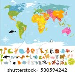 vector illustration world map... | Shutterstock .eps vector #530594242