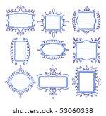 vector illustration of nine... | Shutterstock .eps vector #53060338