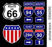 american interstate signs with... | Shutterstock .eps vector #5306050