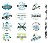 ski and snowboard colored... | Shutterstock .eps vector #530607382