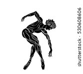 dancing silhouette isolated man.... | Shutterstock .eps vector #530608606