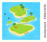treasure map for game. treasure ... | Shutterstock .eps vector #530613256