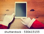 joyful santa claus working... | Shutterstock . vector #530615155