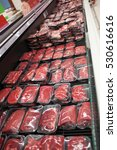 different types of raw meat in... | Shutterstock . vector #530616616